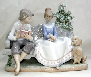 Scarce Lladro ''POETRY OF LOVE''  No. 5442 FIGURAL GROUP:
