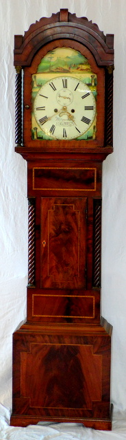 Heitzman & Co Cardiff 8 Day Mahogany Longcase Clock. Early 19thc