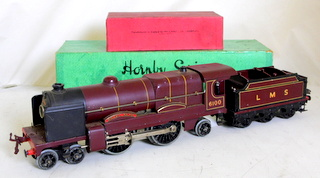 Hornby O Gauge LMS Electric Royal Scot Loco Tender 6100. In fine untouched, condition