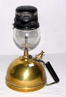 A Vintage Brass Tilley Short Stem Household Table Lamp TL14. Early 20th Century.  Height  13 inches.