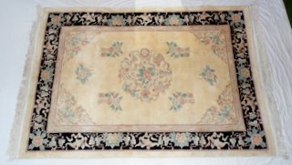 Large Chinese Wool Pile Aubusson Carpet Pinks/Blues.